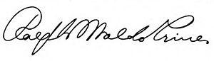 Ralph Waldo Trine - Image: Ralph Waldo Trine signature