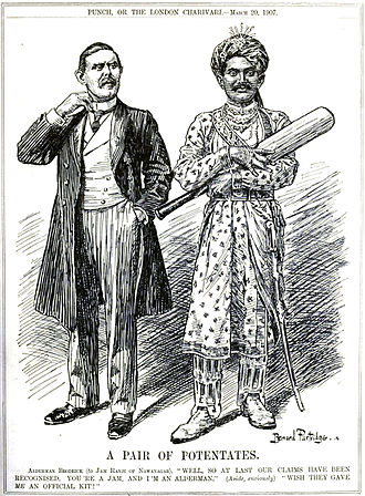 Ranjitsinhji - Punch cartoon (1907)