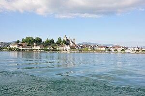 Rapperswil Peninsula - Image: Rapperswil Altstadt Hafen Zürichsee IMG 8335
