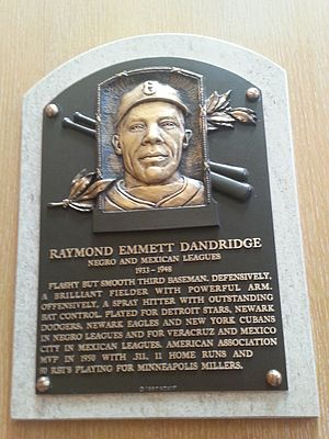 Ray Dandridge - Plaque of Ray Dandridge at the Baseball Hall of Fame