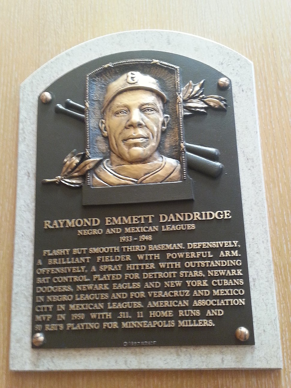 Ray Dandridge plaque
