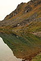Reflection in Gold Cord Lake near Hatchers Pass (2940093881).jpg
