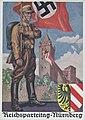 Reichsparteitag-Nürnberg Ansichtskarte Postkarte Nürnberger Burg SA-Mann Hakenkreuz Fahne Wappen NSDAP Propaganda Nazi Party Nuremberg Rally 1936 Postcard Photo-Hoffmann Munich no. 36-9 Uncredited artist No known copyright 675498-00.jpg