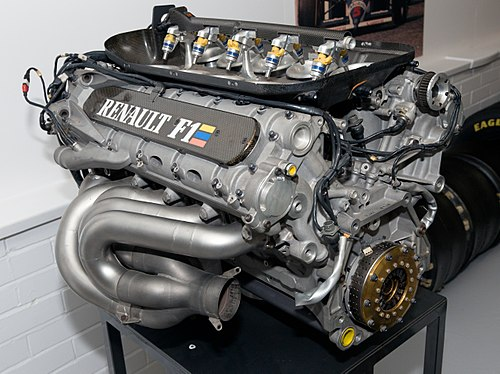 Renault has twelve F1 Championships wins as engine manufacturer in Formula One. Nigel Mansell, Damon Hill, Michael Schumacher, Alain Prost, Fernando Alonso, Sebastian Vettel and Jacques Villeneuve won eleven F1 driver's titles with cars powered by Renault engines. Renault RS7 rear Donington Grand Prix Collection.jpg