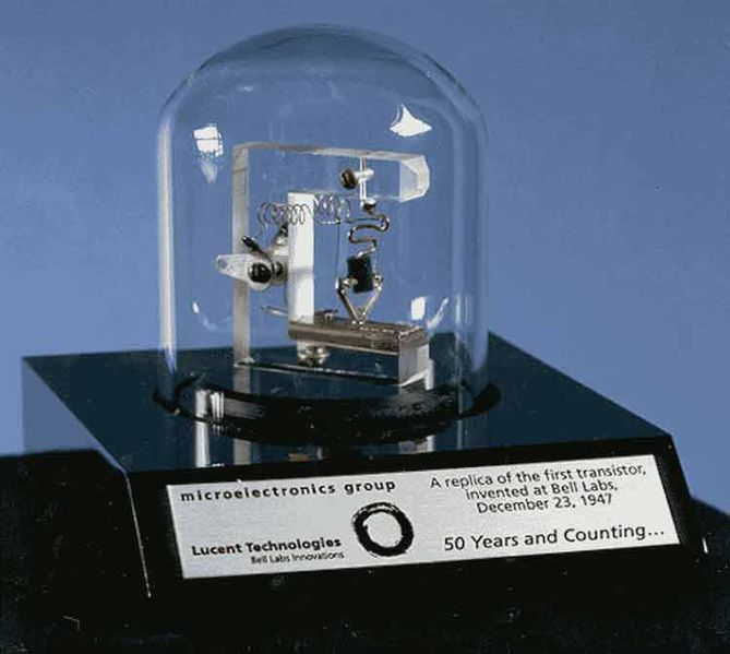 File:Replica of first transistor.jpg