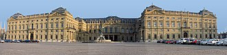 Würzburg Residence - Front of the Residence and Cour d'honneur