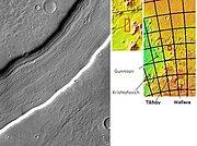 Reull Vallis lineated deposits