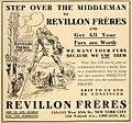 Revillon Furs, New York and Chicago, We want your furs, 1907 advertisement.jpg