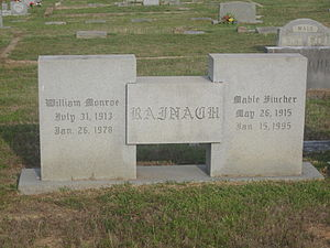 William M. Rainach - Rainach graves in Arlington Cemetery in Homer