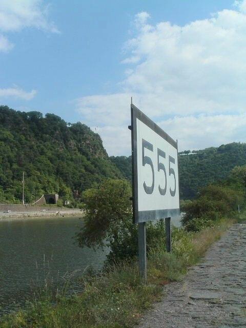 Rheinkilometer Loreley