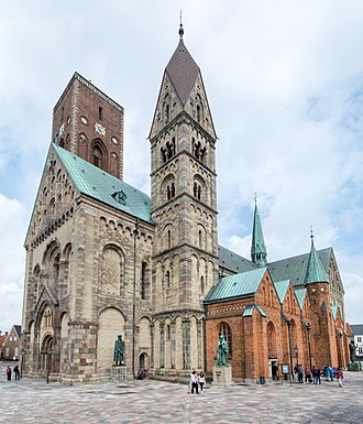 Ribe Cathedral - Ribe Cathedral. Because of its long and troubled history, the building reflects a plethora of different architectural styles and artistic traditions.