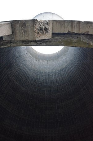 Richborough Power Station - View inside one of the cooling towers