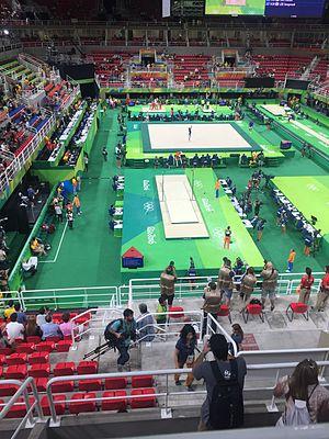 Jeunesse Arena - The Arena hosting the 2016 Olympics gymnastics.