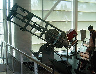 Ritchey–Chrétien telescope - George Ritchey's 24-inch (0.6 m) reflecting telescope, the first RCT to be built, later on display at the Chabot Space and Science Center in 2004