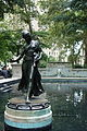 Rittenhse Square reflecting pond and statue.JPG