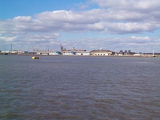 Tilbury - The landing stage in 2001