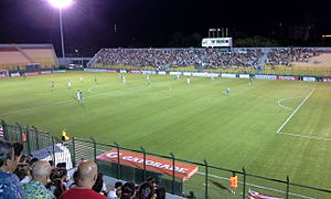 Club Atlético River Plate (Montevideo) - River Plate Montevideo playing against Palmeiras for Copa Libertadores 2016