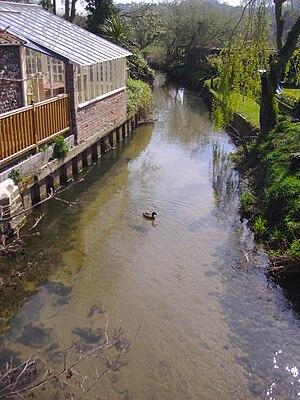River Stiffkey - Image: River Stiffkey in Stiffkey 5th April 2007