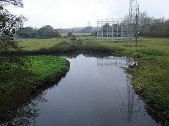 Attlebridge -  The River Wensum below the village at Marriott's Way