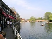 The River Avon and the side of the Royal Shakespeare Theatre