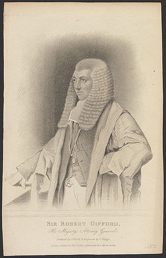 Robert Gifford, 1st Baron Gifford - The 1st Lord Gifford. Engraving by Thomas Wright after Abraham Wivell's painting.