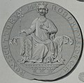 Robert the Bruce seal and coins (cropped to show Robert saat on throne from seal).jpg