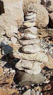 Rock balancing Human-created installation rock art
