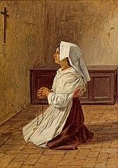 Femme italienne en prière