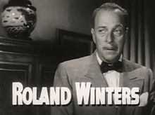 Roland Winters in A Dangerous Profession trailer.jpg