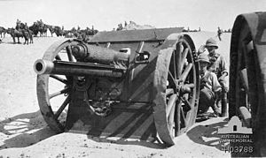 Australian Mounted Division -  British 18-pounders as used by the division