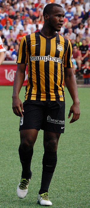 Romario Williams - Williams playing for Charleston Battery in 2016