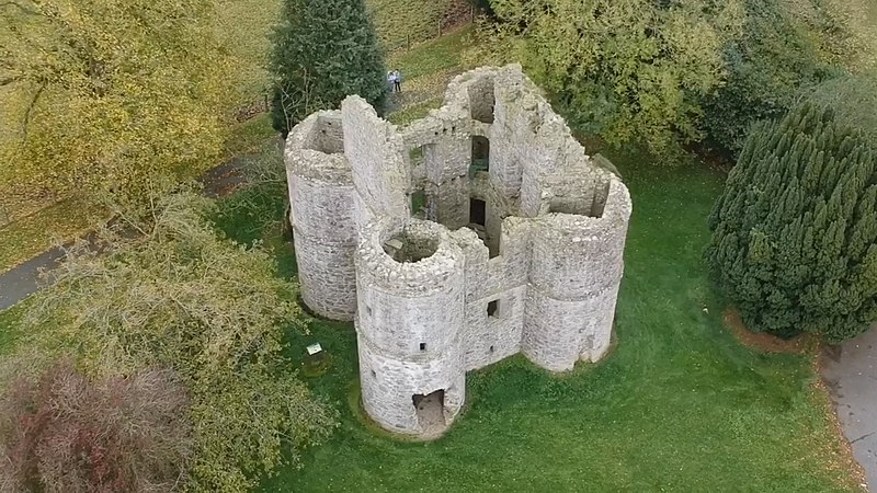 Roughan Fort, sometime also referred to as Roughan Castle, picture taken by drone.