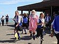 Royal Liberty Morris with 'molly' at Broadstairs Folk Week 2017, Kent, England 7.jpg