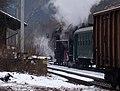Roztoky u Křivoklátu, Křivoklát expres (prosinec 2012), parní lokomotiva.jpg