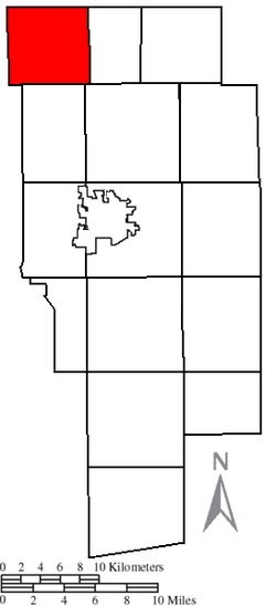 Location of Ruggles Township in Ashland County