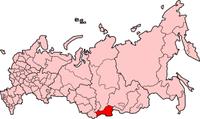 Poloha Republiky Tuva na mapě Ruské federace
