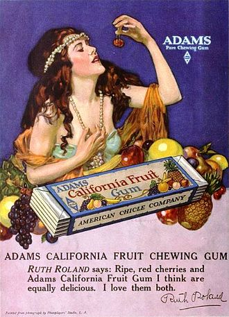 Thomas Adams (chewing gum maker) - An advertisement of Adams chewing gum