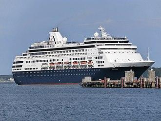 P&O Cruises Australia - Image: Ryndam departing Port of Tallinn 3 July 2013