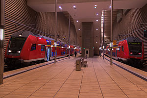 S-Bahn Mitteldeutschland - Train of S-Bahn Mitteldeutschland and Regionalbahn at Leipzig City Tunnel (Leipzig Markt station)