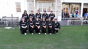 Hampshire Women cricket team - Hampshire Women's First XI in their colours in 2010 Vs Navy, with Hampshire wearing the Nayv's Scotland kit