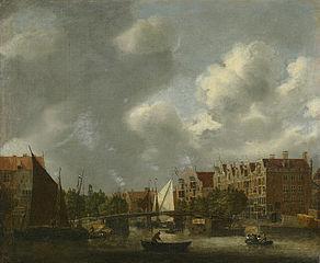 De Korte Prinsengracht gezien vanaf het IJ