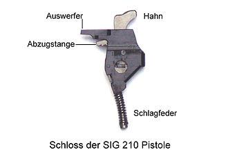 SIG Sauer P210 - Lock of the SIG-210 pistol