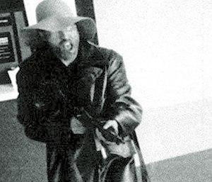 Donald DeFreeze - FBI file photo showing DeFreeze robbing the Hibernia bank