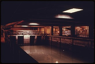 Spring Creek Park - Inside the Spring Creek water treatment plant in 1974
