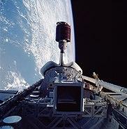 STS-51-G Telstar 3-D deployment