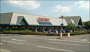 Safeway (UK) - A larger Safeway supermarket in Bude, Cornwall.