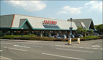 Safeway (UK) - A larger Safeway supermarket in Bude, Cornwall.