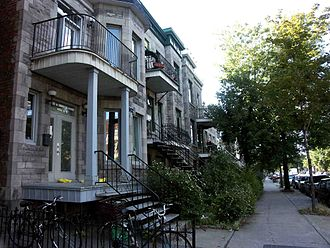 Rosemont–La Petite-Patrie - Saint Denis Street in the Rosemont neighbourhood.