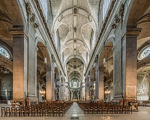 Nave - The nave of the Saint-Sulpice Church in Paris