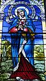 Saint Francis of Assisi Catholic Church (Cranberry Prarie, Ohio) - stained glass, Queen of Martyrs - detail.jpg